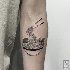 Ramen noodles by tattoo artist @marla_moon