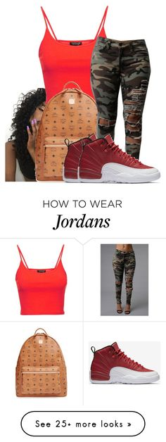 """Untitled #644"" by sipping-gold on Polyvore featuring Topshop, MCM and NIKE"