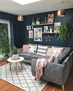 Creative, Colourful Living Spaces to Increase Productivity. - Living Room Rugs - All You Need To Know Living Room Inspo, Room, Living Room Color, Home Decor Bedroom, New Living Room, Grey Sofa Living Room, Room Inspiration, Living Room Grey, Rugs In Living Room