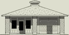 The Clayton - from the plan portfolio of Home Concepts - distinctive & unique home, cottage, garage & carriage house plans Garage Apartment Plans, Garage Apartments, Carriage House Plans, Garage Studio, Gazebo, Garage Doors, Cottage, Outdoor Structures, How To Plan