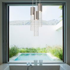 Take a look at the contemporary lighting designs from Salt Lake City's Hammerton Studio.
