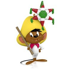 Looney Tunes - The Merriest Mouse in All of Mexico Speedy Gonzales Ornament 2015 Hallmark: Speedy Gonzalez is hoping that piñata is full of yummy cheese. Hang this Keepsake Ornament from your tree to enjoy Mexico's fastest and merriest mouse. Charlie Brown Christmas, Noel Christmas, Christmas Balls, Christmas Tree Ornaments, Hallmark Christmas, Christmas Stuff, Christmas Decorations, First Christmas Photos, Frozen