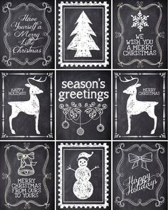 Free Christmas Chalkboard Printables: How to Nest for Less Christmas Chalkboard Labels