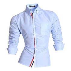 Jeansian Hombre Camisas Moda Manga Larga Men Fashion Slim Fit Casual Long Sleeves Shirts 8383 LightBlue L Jeansian http://www.amazon.es/dp/B00TF0HGYE/ref=cm_sw_r_pi_dp_gmFOwb12XJ7FN