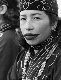 The women of the native indigenous people of Japan called Ainu used to tattoo giant lips onto their faces as a symbol of maturity and to ward off evil spirits.