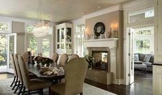 décoration salle à manger avec cheminée