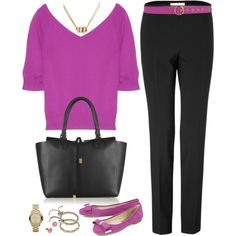 A fashion look from July 2013 featuring Michael Kors sweaters, Michael Kors pants and Michael Kors flats. Browse and shop related looks.