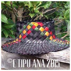 #etipuana_potae  standard rasta potae Flax Weaving, Weaving Art, Hand Weaving, Basket Weaving Patterns, Flax Fiber, Traditional Baskets, Maori Designs, Nz Art, Weaving Designs