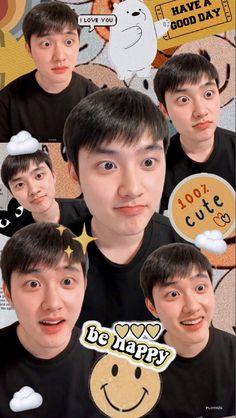 Kyungsoo, Chanyeol, Exo Kokobop, Exo Do, Kpop Exo, Have Good Day, Exo Lockscreen, Kim Minseok, Exo Ot12