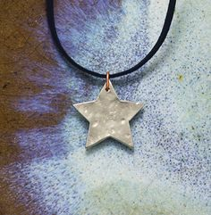 pewter little star pendant