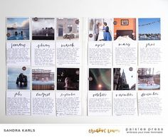 Hello everyone! It's Kelly again and I am bringing you some amazing creative inspiration this morning using the new 2018 Calendar journal cards (available in Sunday start and Monday … Project Life Planner, Project Life Scrapbook, Project Life Layouts, Project Life Cards, Scrapbook Journal, Travel Scrapbook, Journal Cards, Pocket Page Scrapbooking, Scrapbooking Layouts