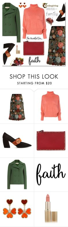 """I'm Thankful For.."" by faten-m-h ❤ liked on Polyvore featuring RED Valentino, Chloé, Prada, Valentino, Emilio Pucci, Van Cleef & Arpels, L'Oréal Paris and thanksgiving"