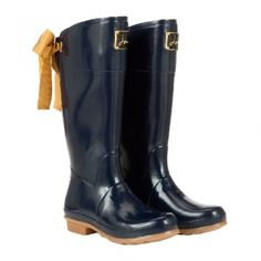 Joules Welly with Bow (Evedon) @ www.let-it-rain.com