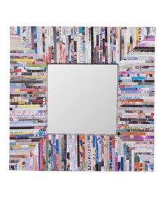 Take a look at this Silver Magazine Square Mirror by Reflective Walls: Decorative Mirrors on #zulily today!