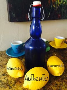 Homemade Limoncello - All Natural & Good