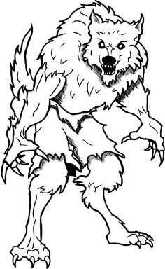 Free Werewolf Coloring Page
