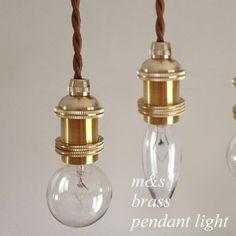 ソケットブラス真鍮ヴィンテージアンティーク一灯裸電球エジソン電球