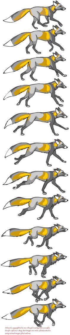 Fox Running Reference by silvercrossfox.deviantart.com on @deviantART