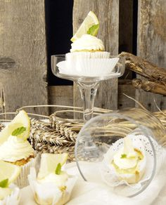 Zucchini-Zitrone Cupcakes, mit Mascarpone-Frosting