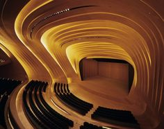 Zaha Hadid Architects have designed the Heydar Aliyev Cultural Center in Baku, Azerbaijan.
