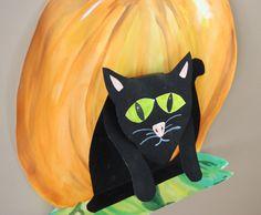 that artist woman: Halloween Cat Art Project