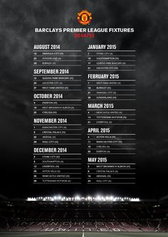 2014/15 League Fixtures | Manchester United Football Club