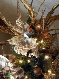 Beautiful Tree Topper for the Country or Ski house.