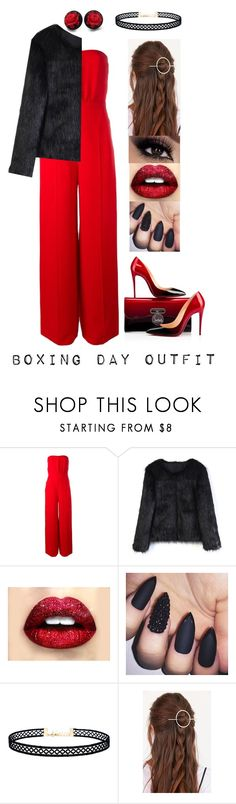 """""""Boxing Day Outfit"""" by xcoordinatingfashionx ❤ liked on Polyvore featuring Valentino, Christian Louboutin, Chicwish, LULUS and Urban Outfitters"""