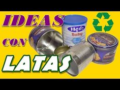 4 Ideas for recycling cans. Recycle Cans, Recycling, Easy Diy Crafts, Creative Crafts, Tin Can Art, Hat Boxes, Decoupage, Canning, Tin Cans