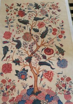 Hand painted chintz on cotton