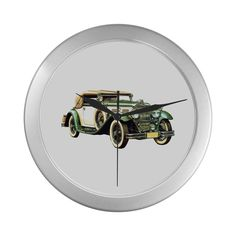 old-car Silver Color Wall Clock