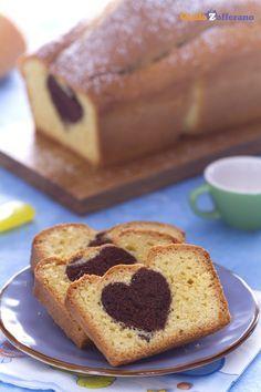 Con il #plumcake romantico (hidden heart loaf cake), tutti rimarranno dolcemente stupiti scoprendo ad ogni fetta il cuore di cacao nascosto al centro! #SanValentino #ricetta #GialloZafferano #italianfood #italianrecipe #ValentinesDay