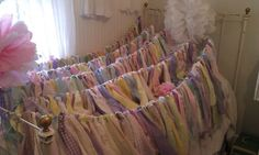 Shabby Bunting Pastel Colors For Indoor Out door Events Nursery Decor