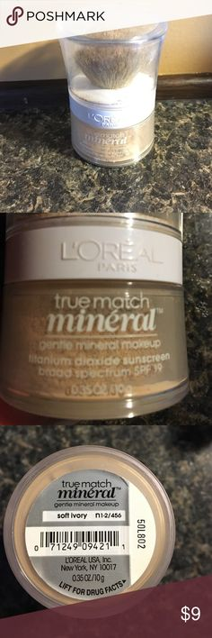 Loreal true match powder Loreal powder in soft ivory. Used a handful of times. Still has plenty of powder. Loreal Makeup