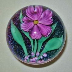 Mind Blowing IRIDESCENT Dichroic GORGEOUS 1990 Signed LUNDBERG Glass PAPERWEIGHT #LUNDBERGSTUDIOS