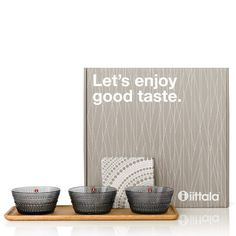 Tapas Gift Set by Iittala | Glass and oak combine for an elegant Finnishing touch. | 2Modern Furniture & Lighting