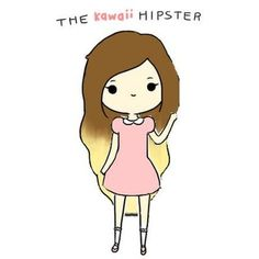 The Kawaii Hipster | Made by @elaine208 featuring polyvore fillers drawings pictures doodles art backgrounds quotes scribble saying phrase text