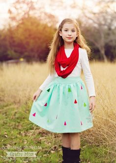 Cheery Trees DIY Skirt | What a stunning sewing project!