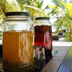 On the Island Île des deux Cocos you can try homemade rum in different varieties. #Mauritius #delicacy
