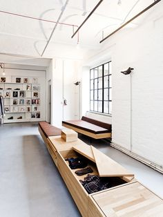I like this storage idea too.  we need a bench and this could help a few area (store hangers, and non merch items)...GGP
