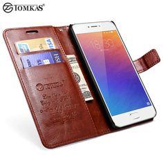 Tomkas original case para meizu m3 note teléfono coque lujo pu cartera de cuero del soporte del tirón bolsa de la cubierta para meizu m3 note casos