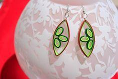 Handmade Quilling Earrings  Leaf Shaped by TrendyJewelryStudio