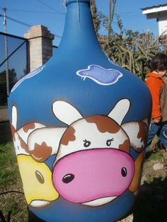 Snoopy, Fictional Characters, Decorated Bottles, Painted Bottles, Interiors, Fantasy Characters