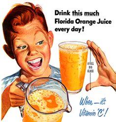 Orange Juice ad with creepy kid Retro Advertising, Retro Ads, Vintage Advertisements, Images Vintage, Retro Images, Vintage Ephemera, Vintage Ads, Vintage Food, Vintage Horror