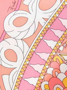 Emilio Pucci Square Scarf in Pink (multicolour) | Lyst