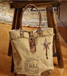 Canvas Handbags, Tote Handbags, Canvas Tote Bags, Canvas Purse, Vintage Bags, Vintage Handbags, Shopper, Canvas Leather, Shoulder Handbags