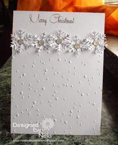 Hallo ihr Lieben! Mir war es so nach festlich :-) Und deshalb habe ich einen Mini-Adventskalender in weiß und silber mit Sternen gema...