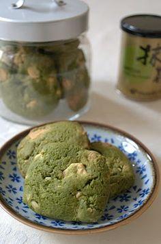 Yummy Indulgences: Elaine Bakes: Green Tea White Chocolate Cookies