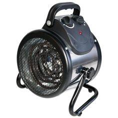 HeTR 1500-Watt Convection Electric Portable Fan Heater, Silver