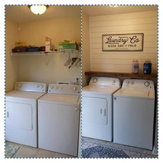 26 small laundry room decoration ideas f. - 26 small laundry room decoration ideas for you act before it's too late - Home Renovation, Architecture Renovation, Home Remodeling, Kitchen Remodeling, Camper Renovation, Bathroom Renovations, Farmhouse Laundry Room, Basement Laundry, Small Laundry Rooms
